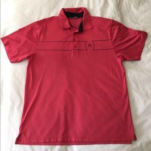 Travis Mathew Red Brick Golf Shirt XL Grayhawk GC